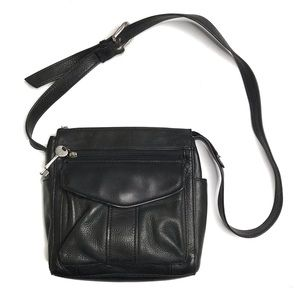 Fossil Black Leather Crossbody / Shoulder Bag